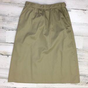 Vintage Khaki Skirt Size 7